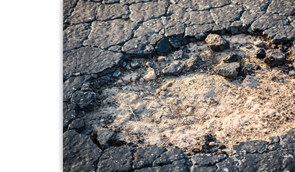 Picture of a Pothole in the Road