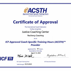 ICF Accreditation for our Resiliency Training Program